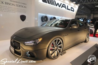 TOKYO Auto Salon 2015 Custom Car Demo JDM USDM Body Kit Coilover Suspension Wheels Campaign Girl Image New Parts Chiba Makuhari Messe Motor Show WALD Black Bison MASERATI GHIBLI