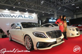 TOKYO Auto Salon 2015 Custom Car Demo JDM USDM Body Kit Coilover Suspension Wheels Campaign Girl Image New Parts Chiba Makuhari Messe Motor Show WALD Black Bison Mercedes Benz AMG S63