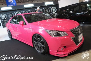 TOKYO Auto Salon 2015 Custom Car Demo JDM USDM Body Kit Coilover Suspension Wheels Campaign Girl Image New Parts Chiba Makuhari Messe Motor Show TOYOTA Pink Crown Hybrid