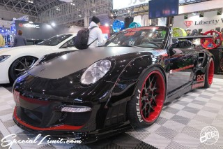 TOKYO Auto Salon 2015 Custom Car Demo JDM USDM Body Kit Coilover Suspension Wheels Campaign Girl Image New Parts Chiba Makuhari Messe Motor Show SKY FORGED PORSCHE 911 Convertible LB WORKS Wide Body