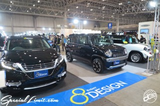 TOKYO Auto Salon 2015 Custom Car Demo JDM USDM Body Kit Coilover Suspension Wheels Campaign Girl Image New Parts Chiba Makuhari Messe Motor Show 8DESIGN