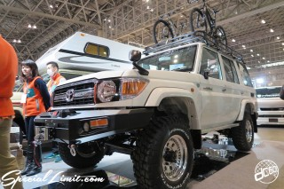 TOKYO Auto Salon 2015 Custom Car Demo JDM USDM Body Kit Coilover Suspension Wheels Campaign Girl Image New Parts Chiba Makuhari Messe Motor Show TOYOTA Land Cruiser 70