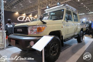TOKYO Auto Salon 2015 Custom Car Demo JDM USDM Body Kit Coilover Suspension Wheels Campaign Girl Image New Parts Chiba Makuhari Messe Motor Show TOYOTA Land Cruiser Truck RV Park