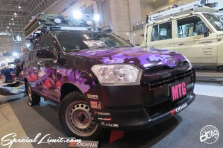 TOKYO Auto Salon 2015 Custom Car Demo JDM USDM Body Kit Coilover Suspension Wheels Campaign Girl Image New Parts Chiba Makuhari Messe Motor Show TOYOTA PROBOX High Lift