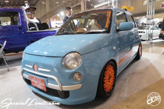 TOKYO Auto Salon 2015 Custom Car Demo JDM USDM Body Kit Coilover Suspension Wheels Campaign Girl Image New Parts Chiba Makuhari Messe Motor Show FIAT 500 Face