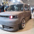 TOKYO Auto Salon 2015 Custom Car Demo JDM USDM Body Kit Coilover Suspension Wheels Campaign Girl Image New Parts Chiba Makuhari Messe Motor Show TOYOTA bB SCION xB