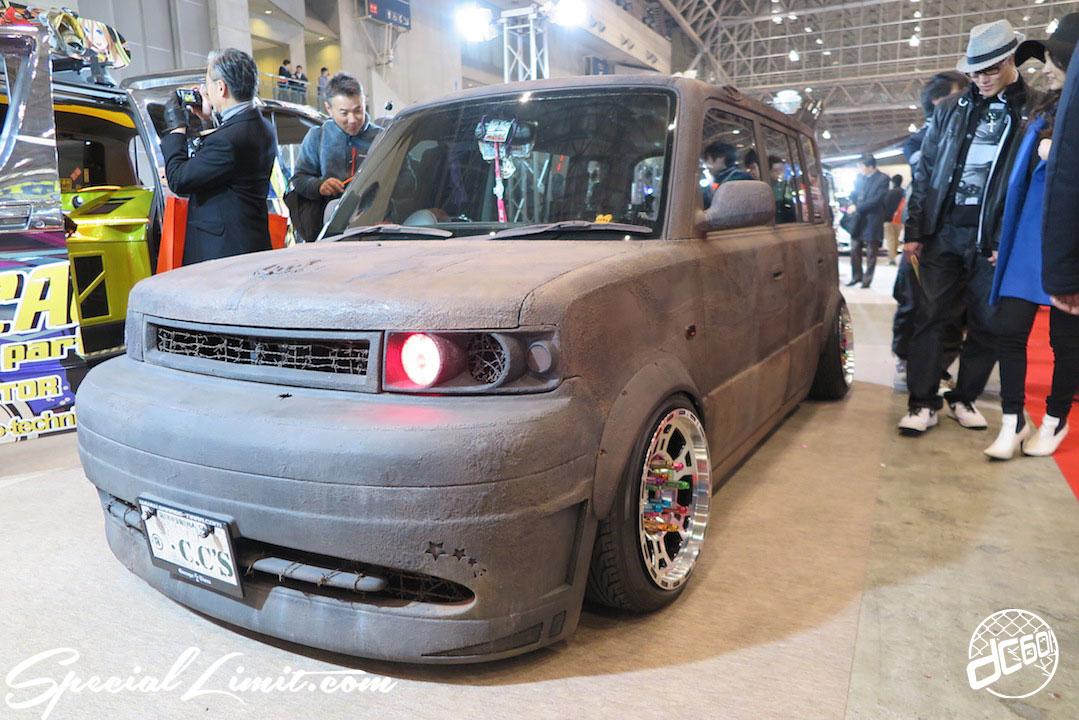 TOKYO Auto Salon 2015 Custom Car Demo JDM USDM Body Kit Coilover Suspension Wheels Campaign Girl Image New Parts Chiba Makuhari Messe Motor Show TOYOTA bB SCION xB