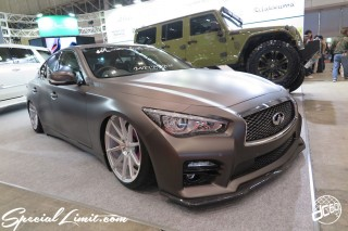 TOKYO Auto Salon 2015 Custom Car Demo JDM USDM Body Kit Coilover Suspension Wheels Campaign Girl Image New Parts Chiba Makuhari Messe Motor Show INFINITI Skyline Matte Color