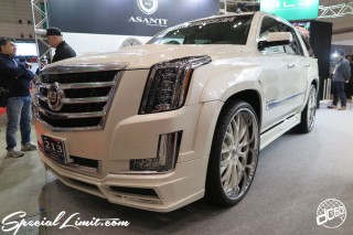 TOKYO Auto Salon 2015 Custom Car Demo JDM USDM Body Kit Coilover Suspension Wheels Campaign Girl Image New Parts Chiba Makuhari Messe Motor Show Cadillac ESCALADE ASANTI