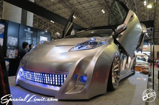 TOKYO Auto Salon 2015 Custom Car Demo JDM USDM Body Kit Coilover Suspension Wheels Campaign Girl Image New Parts Chiba Makuhari Messe Motor Show Obayashi Factory NISSAN LEEF Ground Zero Forgiato Custom Audio iPad ALPINE