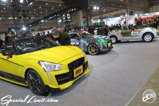 TOKYO Auto Salon 2015 Custom Car Demo JDM USDM Body Kit Coilover Suspension Wheels Campaign Girl Image New Parts Chiba Makuhari Messe Motor Show DAIHATSU COPEN