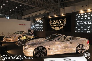 TOKYO Auto Salon 2015 Custom Car Demo JDM USDM Body Kit Coilover Suspension Wheels Campaign Girl Image New Parts Chiba Makuhari Messe Motor Show DAD Swarovski Mercedes Benz SL