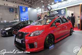 TOKYO Auto Salon 2015 Custom Car Demo JDM USDM Body Kit Coilover Suspension Wheels Campaign Girl Image New Parts Chiba Makuhari Messe Motor Show AIMGAIN PRIUS