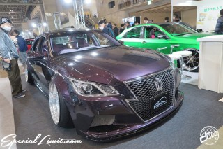 TOKYO Auto Salon 2015 Custom Car Demo JDM USDM Body Kit Coilover Suspension Wheels Campaign Girl Image New Parts Chiba Makuhari Messe Motor Show TOYOTACROWN Athlete Wide VIP