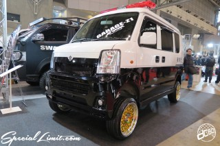 TOKYO Auto Salon 2015 Custom Car Demo JDM USDM Body Kit Coilover Suspension Wheels Campaign Girl Image New Parts Chiba Makuhari Messe Motor Show SUZUKI EVERY High Lift