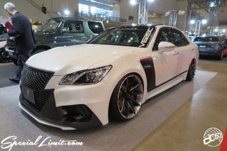 TOKYO Auto Salon 2015 Custom Car Demo JDM USDM Body Kit Coilover Suspension Wheels Campaign Girl Image New Parts Chiba Makuhari Messe Motor Show TOYOTA CROWN Athlete J-unit