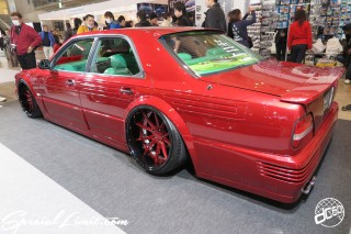 TOKYO Auto Salon 2015 Custom Car Demo JDM USDM Body Kit Coilover Suspension Wheels Campaign Girl Image New Parts Chiba Makuhari Messe Motor Show NISSAN CEDRIC GRORIA Y34 VIP