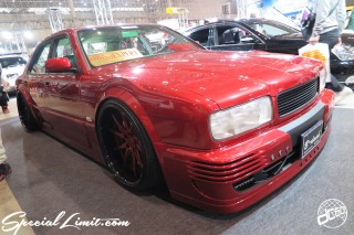 TOKYO Auto Salon 2015 Custom Car Demo JDM USDM Body Kit Coilover Suspension Wheels Campaign Girl Image New Parts Chiba Makuhari Messe Motor Show NISSAN Y34 CEDRIC GRORIA VIP