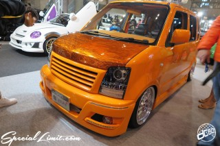 TOKYO Auto Salon 2015 Custom Car Demo JDM USDM Body Kit Coilover Suspension Wheels Campaign Girl Image New Parts Chiba Makuhari Messe Motor Show SUZUKI WagonR MC