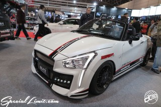 TOKYO Auto Salon 2015 Custom Car Demo JDM USDM Body Kit Coilover Suspension Wheels Campaign Girl Image New Parts Chiba Makuhari Messe Motor Show DAIHATSU COPEN BLITZ