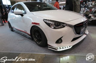 TOKYO Auto Salon 2015 Custom Car Demo JDM USDM Body Kit Coilover Suspension Wheels Campaign Girl Image New Parts Chiba Makuhari Messe Motor Show MAZDA DEMIO BLITZ