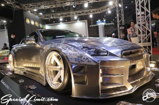 TOKYO Auto Salon 2015 Custom Car Demo JDM USDM Body Kit Coilover Suspension Wheels Campaign Girl Image New Parts Chiba Makuhari Messe Motor Show Kuhi Racing Factory NISSAN R35 GT-R Paint WORK