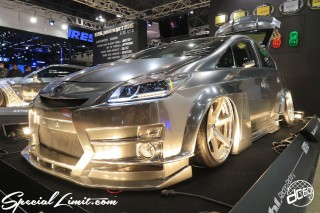 TOKYO Auto Salon 2015 Custom Car Demo JDM USDM Body Kit Coilover Suspension Wheels Campaign Girl Image New Parts Chiba Makuhari Messe Motor Show TOYOTA PRIUS Hybrid WORK Kuhi Racing Factory