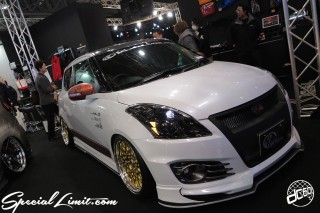 TOKYO Auto Salon 2015 Custom Car Demo JDM USDM Body Kit Coilover Suspension Wheels Campaign Girl Image New Parts Chiba Makuhari Messe Motor Show Kuhi Racing SUZUKI SWIFT