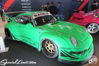 TOKYO Auto Salon 2015 Custom Car Demo JDM USDM Body Kit Coilover Suspension Wheels Campaign Girl Image New Parts Chiba Makuhari Messe Motor Show RAUH Welt PORSCHE 911 ARMY GIRL Deen-Plo