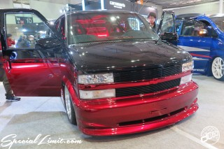 TOKYO Auto Salon 2015 Custom Car Demo JDM USDM Body Kit Coilover Suspension Wheels Campaign Girl Image New Parts Chiba Makuhari Messe Motor Show CHEVROLET ASTRO Audio