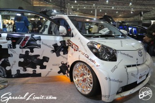 TOKYO Auto Salon 2015 Custom Car Demo JDM USDM Body Kit Coilover Suspension Wheels Campaign Girl Image New Parts Chiba Makuhari Messe Motor Show TOYOTA IQ Sound Quality WORK Audio