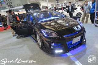 TOKYO Auto Salon 2015 Custom Car Demo JDM USDM Body Kit Coilover Suspension Wheels Campaign Girl Image New Parts Chiba Makuhari Messe Motor Show TOYOTA PRIUS Audio