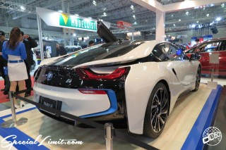 TOKYO Auto Salon 2015 Custom Car Demo JDM USDM Body Kit Coilover Suspension Wheels Campaign Girl Image New Parts Chiba Makuhari Messe Motor Show BMW i8