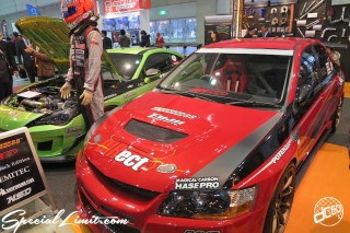 TOKYO Auto Salon 2015 Custom Car Demo JDM USDM Body Kit Coilover Suspension Wheels Campaign Girl Image New Parts Chiba Makuhari Messe Motor Show MITSUBISHI Lancer EVO