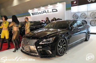 TOKYO Auto Salon 2015 Custom Car Demo JDM USDM Body Kit Coilover Suspension Wheels Campaign Girl Image New Parts Chiba Makuhari Messe Motor Show LEXUS LS WALD