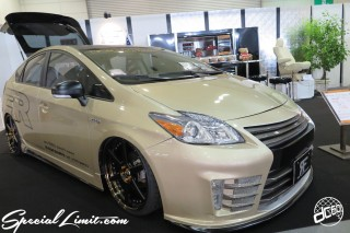 TOKYO Auto Salon 2015 Custom Car Demo JDM USDM Body Kit Coilover Suspension Wheels Campaign Girl Image New Parts Chiba Makuhari Messe Motor Show TOYOTA PRIUS