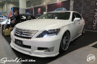 TOKYO Auto Salon 2015 Custom Car Demo JDM USDM Body Kit Coilover Suspension Wheels Campaign Girl Image New Parts Chiba Makuhari Messe Motor Show LEXUS LS AG ALLAN