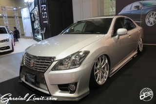 TOKYO Auto Salon 2015 Custom Car Demo JDM USDM Body Kit Coilover Suspension Wheels Campaign Girl Image New Parts Chiba Makuhari Messe Motor Show TOYOTA CROWN