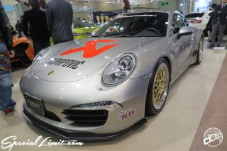 TOKYO Auto Salon 2015 Custom Car Demo JDM USDM Body Kit Coilover Suspension Wheels Campaign Girl Image New Parts Chiba Makuhari Messe Motor Show AKRAPOVIC PORSCHE 911 Carrera KW HASHIMOTO Corporation