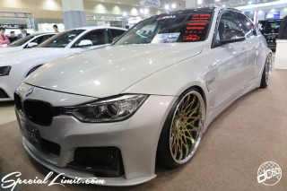 TOKYO Auto Salon 2015 Custom Car Demo JDM USDM Body Kit Coilover Suspension Wheels Campaign Girl Image New Parts Chiba Makuhari Messe Motor Show BMW F30 M3 CRIMSON RS CV WIRE