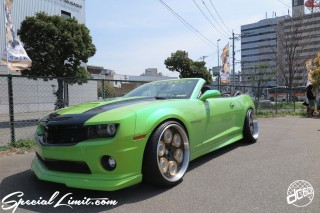 X-5 FUKUOKA 2015 CROSS FIVE XTREME SUPER SHOW JAPAN TOUR MONSTER ENERGY Boat Race Parking Forged Wheels Cast New Custom Parts Campaign Girl Image Domestics USDM JDM Slammed Hi-Lander Camber Magazine Interview Wide Body Kit Audio Adjustable Coil Over One Off Street Paint CHEVROLET CAMARO Convertible